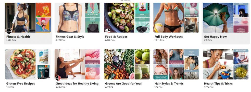 health.com pinterest for marketing board