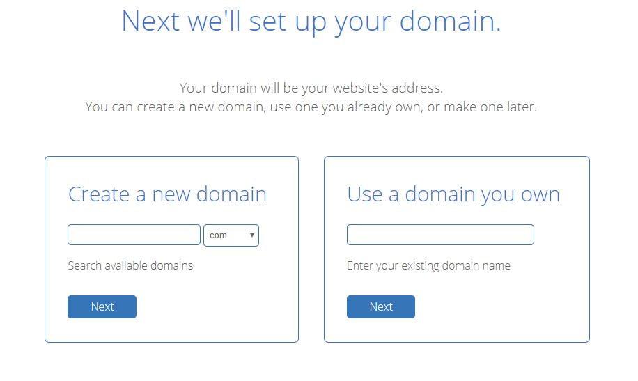 blue host domain name -