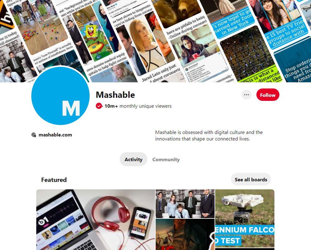 mashable pinterest for marketing