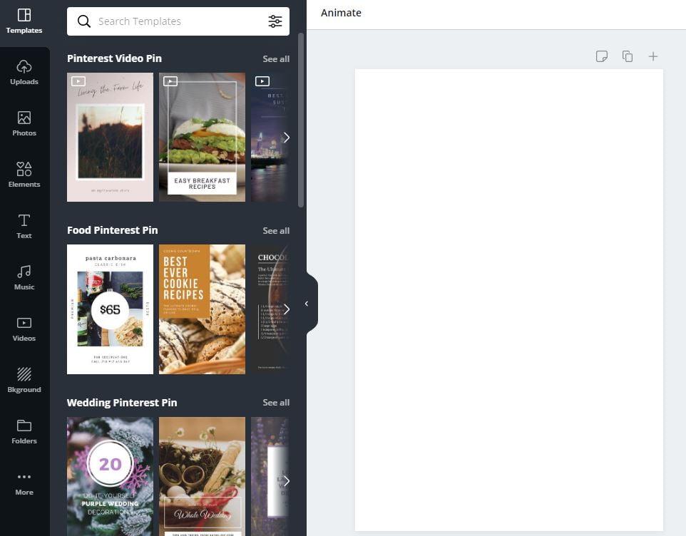 pinterest for marketing canva design