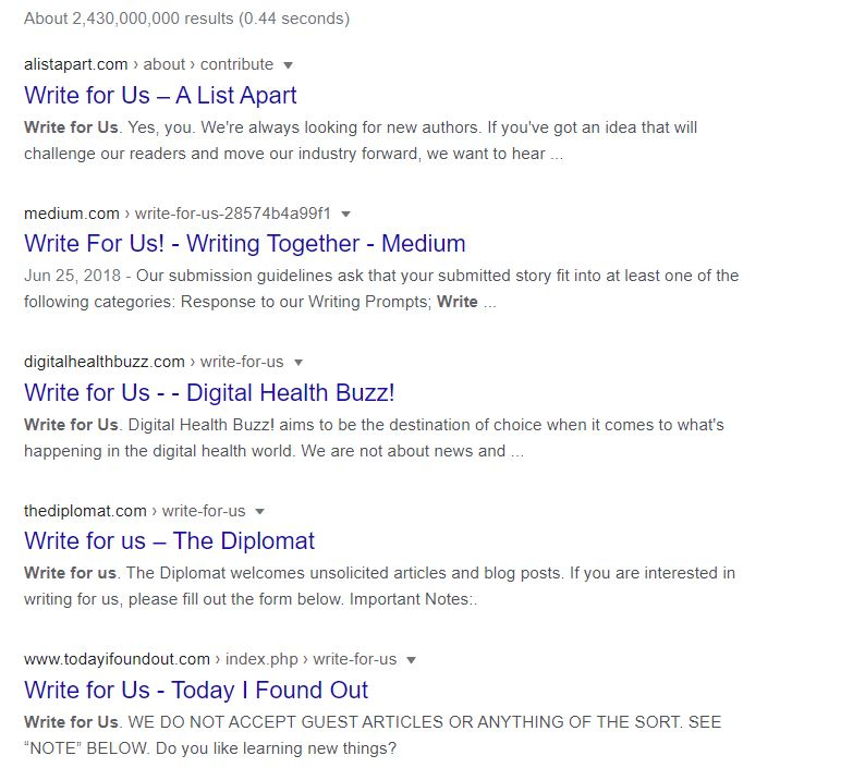 write for us link building in seo -